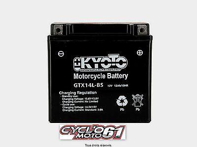 Batería para moto kyoto YTX14L-BS Harley Davidson XL 883 L Super Low 2011 à 2015