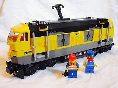 Lego City Yellow Cargo Train Diesel Engine + Motor (NO PF) 7939/60052/60098  - Lego Cargo Train