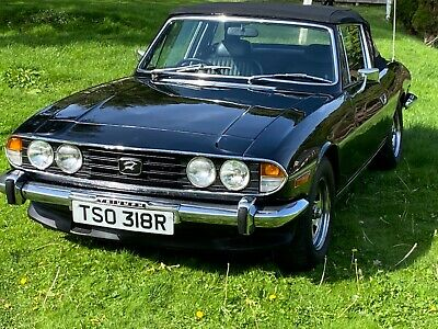 HISTORIC 1977 TRIUMPH STAG SPORTS CONVERTIBLE IN GLEAMING BLACK - EXCELLENT!
