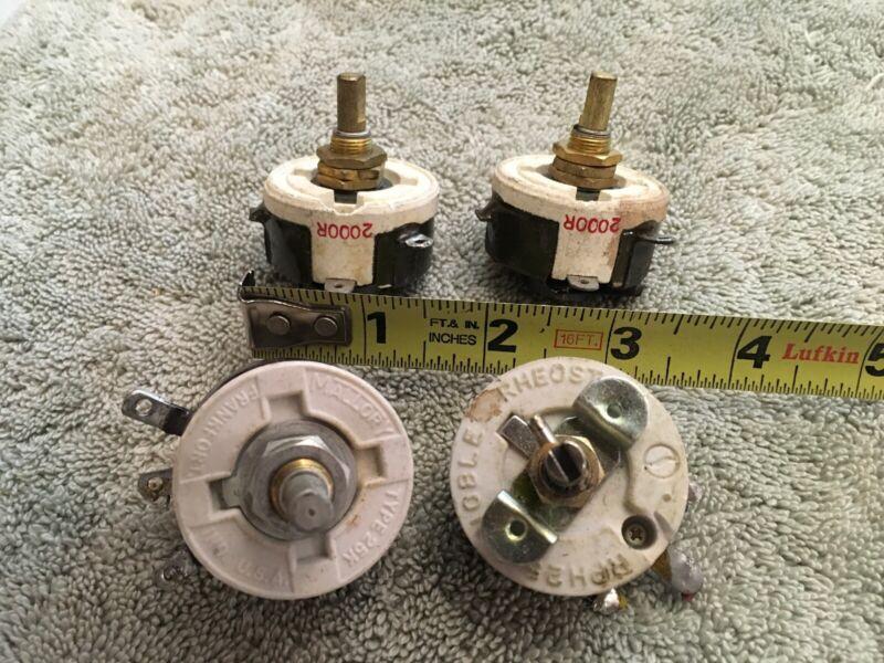Lot Of 4 Misc. Rheostat Variable Resistor Bin AR6