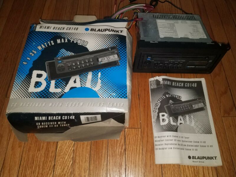 Blaupunkt Miami Beach CD148 Car Detachable Unit Working Tested Complete in box!