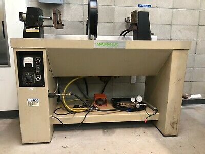 Magnaflux A-915 Horizontal Bench Unit With Two Spectroline Uv-400b Superfloods