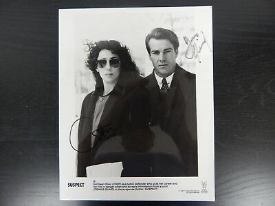 "Cher and Dennis Quaid Hand Signed Movie Photo ""Suspect"" W/ Todd Mueller COA"