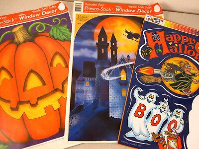 Lot 3 BIG 12x16 Window Cling Halloween Decorations Vtg 1993 Michael Macone RaRe](Halloween Decorations Michaels)