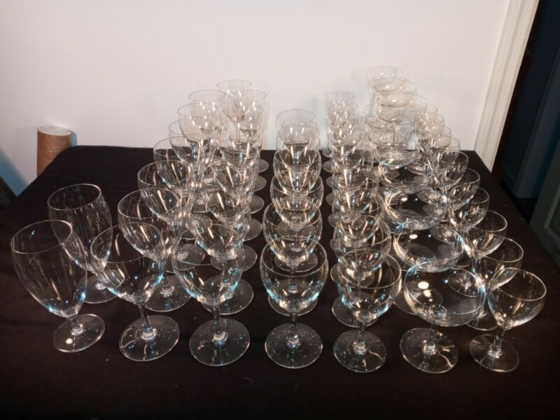 52 Baccarat France Crystal Chambolle Art Glass Wine Water Tea Sherry Champagne +