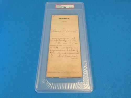 Frederick Douglass Document Deed Civil Wars Signed Auto PSA/DNA