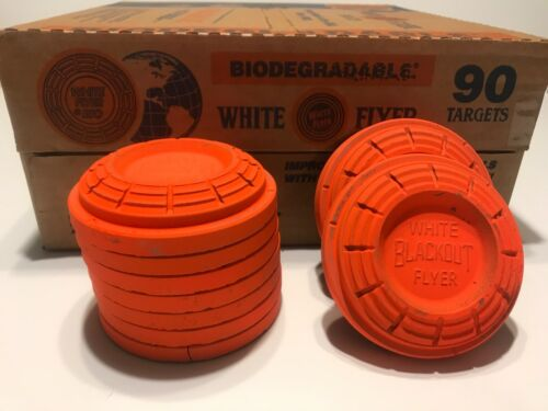 NEW! Case-90 Clay Targets White Flyer Biodegradable