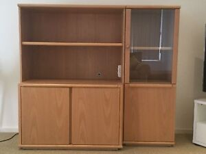 Chiswell pine veneer wall unit Soldiers Point Port Stephens Area Preview