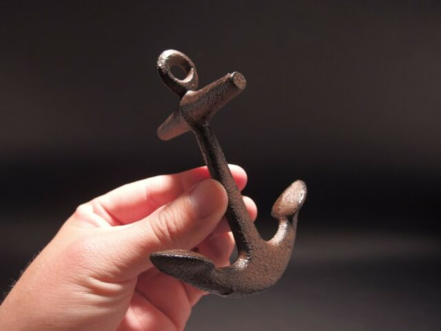 """5"""" Vintage Antique Style Cast Iron Ships Boat Anchor Desk Paperweight"""