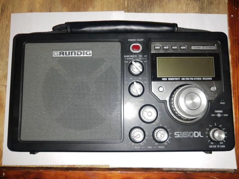 GRUNDIG S350DL AM FM Stereo SW 1 2 3 High Sensitivity World Receiver Radio