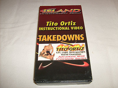 Used, Tito Ortiz Instructional Video - Takedowns VHS UFC MMA Advanced NHB Freestyle  for sale  Shipping to Canada