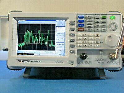 Gw Instek Gsp830 9khz To 3ghz Spectrum Analyzer With Tracking Generator.