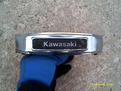 1981 Kawasaki KZ305B Front Fork Emblem and Bracket