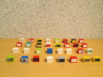LEGO 32 Schränke,Boxen,Kisten,Safe,Briefkästen*bunter Mix *D163* (Bunte Safe)
