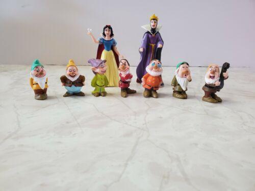 Disney Snow White and 7 Dwarfs Figures Plus Evil Queen