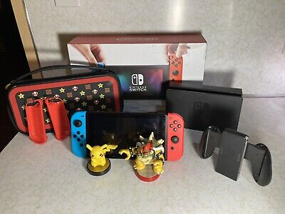 Nintendo Switch 32GB Red/Blue Console Extras Included *Read Description*
