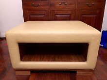 Large Cream Off White Leather Ottoman Mount Hawthorn Vincent Area Preview