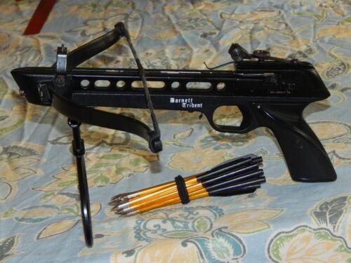 Vintage Barnett Trident Pistol Crossbow Original 12 Bolts Arrows Made in USA Lot