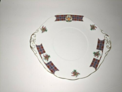 Vintage Royal Standard Bonnie Scotland Clan Cameron double handle plate