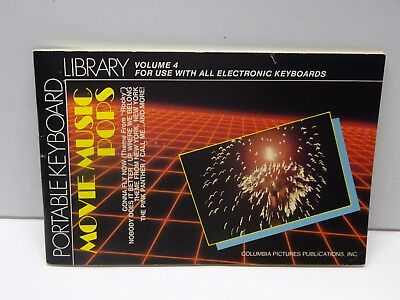 1984 Portable Keyboard Library Volume 4 Movie Music Pops  **  FREE SHIPPING  **