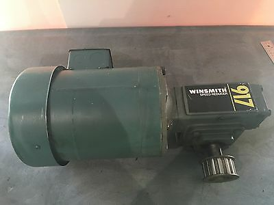 Leeson 34 Hp 1725 Rpm Motor C6t17fc1148 Winsmith Gear Box Speed Reducer 917 Mdn