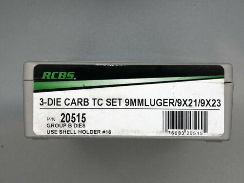 RCBS 9mm 3-Die Carbide Taper Crimp Die Set - 20515 - 9 mm Luger / 9x21 / 9x23