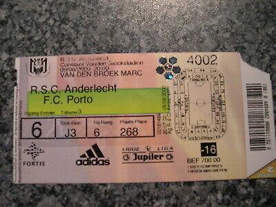 Ticket: Anderlecht - FC Porto UEFA (9-8-00)