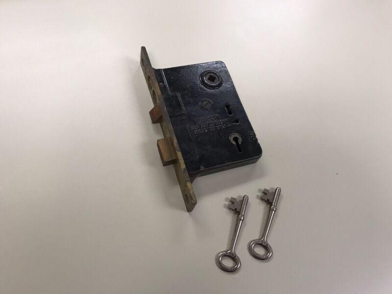 Antique Sargent & Co Door Lock with 2 Keys - New Haven Conn.