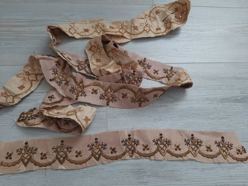 antique gold bindalli embroidery part