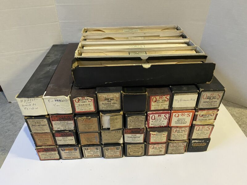 Lot Of 37 Vintage Piano - Word Roll / QRS, Imperial, Aristo, Supertone, 88 Note