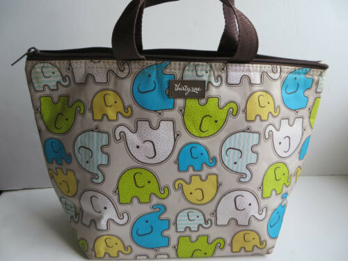 THIRTY ONE Gifts Thermal Tote Large Lunch Bag Elephants Insulated Cooler GUC