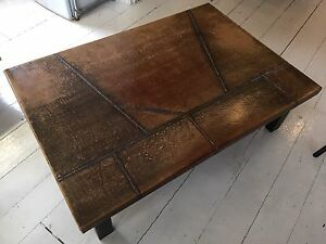 Unique, Large, Leather Coffee Table