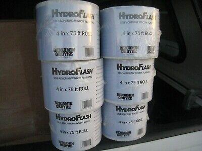 Benjamin Obdyke Hydroflash 4 X 75 - 6 Rolls Hydro Flash House Wrap Tape