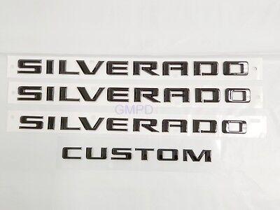Chevrolet Silverado Door & Tailgate Silverado Custom Black Emblem 84300948 OEM