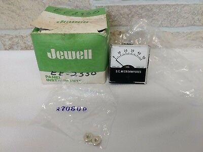 Jewell Electric Ms1t Dc 0-50 Microamperes Panel Meter And Gauge Cat. 118001-100