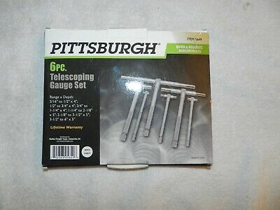 Pittsburgh 6pc Telescoping Gauge Set No 5649