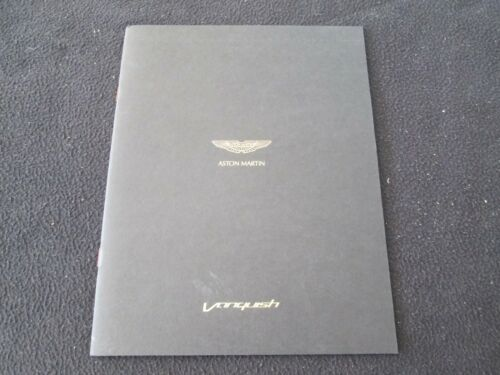 2012 2013 Aston Martin Vanquish V12 Color Brochure Flagship Coupe Sales Catalog
