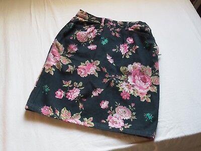 KENZO Vintage Flower Print Jeans Skirt Size:42