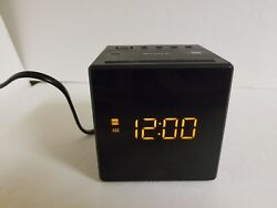 Sony ICF-C1 Digital Alarm Clock Radio w Dual Alarm & Back up battery, Black Cube