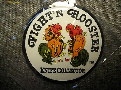 Fight n Rooster Germany Knife Collector Patch Quality 3 1/4 inches New