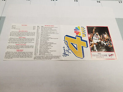 Greenville Braves 1993 Minor Baseball Pocket Schedule   Wyff