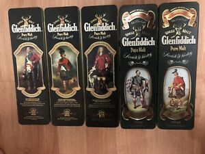 Glenfiddich whisky scotch collectors tin cans
