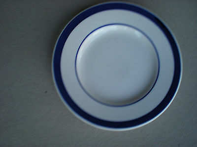 Farberware Bistro Blue   SAUCER 4576  Cobalt Blue Band