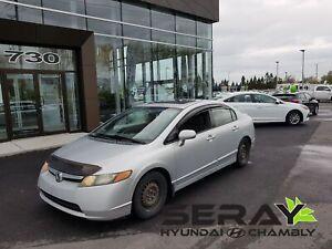 2008 Honda Civic LX w/Sunroof, mags, a/c, en préparation