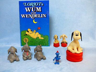 Der blaue Klaus Wum und Wendelin Figuren Sammlung Loriot