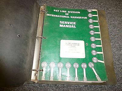 International Td20e Td20 Series E Crawler Tractor Chassis Service Repair Manual