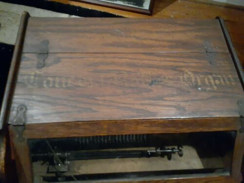 Antique CONCERT ROLLER ORGAN 1901 Hand Crank Victorian Music Box + 12 Song Cobs