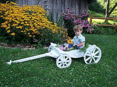 White Cinderella Charming Carriage -  Child's Wedding  Wagon - Cinderella Wagon