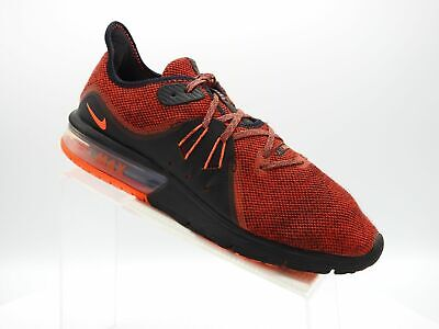Nike Air Max Sequent 3 921694-066 Size 10 M Red Black Running Sports Mens Shoes