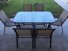 Outdoor table setting with 6 chairs Yamanto Ipswich City Preview